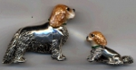 Два Спаниеля серебро ST478
