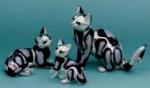 Три кошки серебро ST28