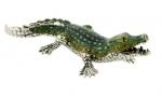 Крокодил большой серебро ST310-1