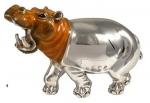 Бегемот из серебра большой ST145-1