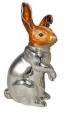 Заяц большой серебро ST131-1