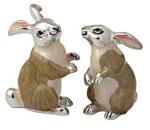 Два Зайца из серебра ST95S