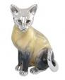 Кошка большая из серебра ST113-1