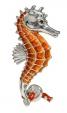 Морской конек большой серебро ST156-1A