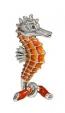 Морской конек малый серебро ST156-3A