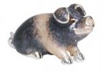 Поросенок малый серебро с эмалью ST277-3