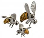 Пчелы серебро с эмалью ST54