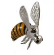 Пчела большая серебро с эмалью ST54-1
