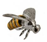 Пчела средняя серебро с эмалью ST54-2