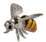 Пчела малая серебро с эмалью ST54-3