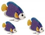 Рыбки серебро с эмалью ST227