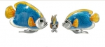 Рыбки серебро с эмалью ST227A