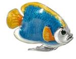 Рыбка большая серебро с эмалью ST227A-1