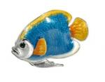 Рыбка средняя серебро с эмалью ST227A-2