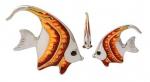 Рыбки серебро с эмалью ST32