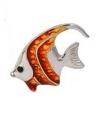 Рыбка средняя серебро с эмалью ST32-2