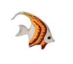 Рыбка малая серебро с эмалью ST32-3