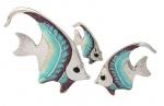 Рыбки серебро с эмалью ST32B