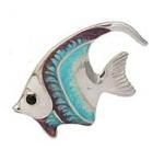Рыбка средняя серебро с эмалью ST32B-2