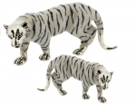 Два Белых Тигра серебро ST309A