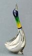 Утка малая серебро ST37-3