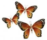 Статуэтки Три Бабочки серебро ST269