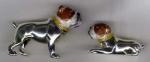 Два Бульдога серебра ST151