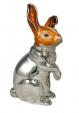 Заяц большой серебро с эмалью ST133-1