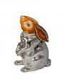 Заяц малый серебро с эмалью ST133-2