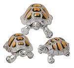 Черепахи серебро с эмалью ST36