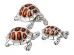 Черепахи серебро с эмалью ST36b