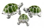 Черепахи серебро с эмалью ST36c