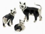 Кошки серебро с эмалью ST96