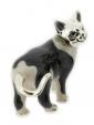 Кошка средняя серебро с эмалью ST96-2