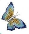 Бабочка средняя серебро с эмалью ST229-2