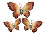 Бабочки серебро с эмалью ST229A