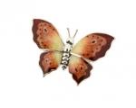 Бабочка малая серебро с эмалью ST229A-3