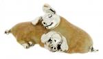 Спящие Свиньи серебро с эмалью ST235