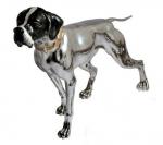 Собака породы Поинтер серебро с эмалью ST115