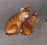 Котята серебро с эмалью ST352-2
