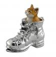 Кошка в ботинке серебро ST185-1