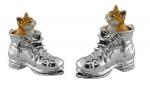 Кошки в ботинках серебро ST185