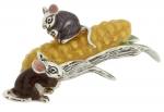 Мышки с кукурузой серебро  ST440