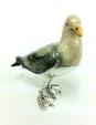 Чайка малая серебро с эмалью ST375-2