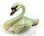 Лебедь большой серебро с эмалью ST395-1
