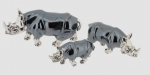 Три Носорога серебро ST342