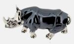 Носорог большой серебро ST342-1