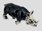 Носорог средний серебро ST342-2