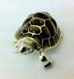 Черепаха большая серебро с эмалью ST291-1