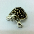Черепаха малая серебро с эмалью ST291-3